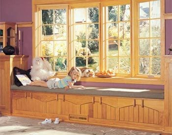 Enjoying the window. bay window construction