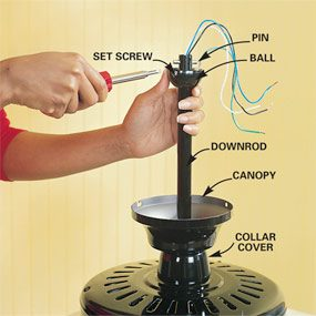 How to install ceiling fans the family handyman how to install ceiling fans mozeypictures Image collections