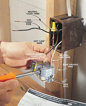 How To Install Gfci Receptacle Outlets The Family Handyman