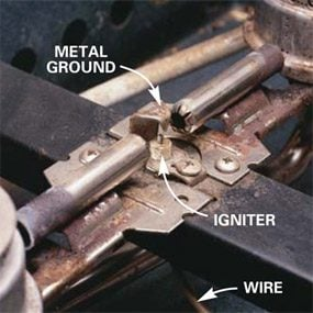 Photo 3: Look for the igniter (spark ignition)
