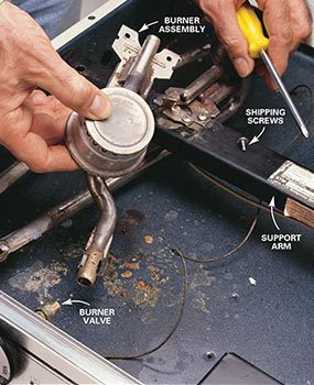 Photo 1: Remove the burner assembly