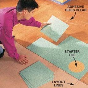 Photo 7: Install full tiles