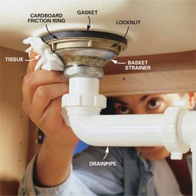 How To Replace A Kitchen Sink Basket Strainer Gallery