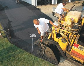 How to install a durable asphalt driveway the family handyman how to install a durable asphalt driveway solutioingenieria Image collections