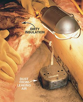 Dirty insulation
