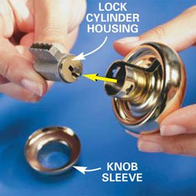 How To Re Key A Door Lock The Family Handyman