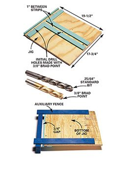 Use the drilling jig when you assemble the stackable shelves.