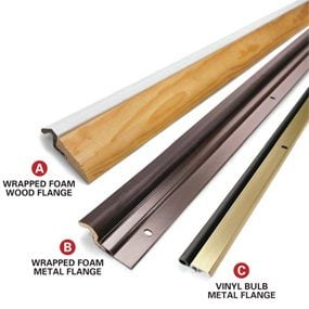more elegant weatherstripping solutions combine foam/vinyl, wrapped with wood or metal