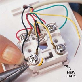 replace a phone jack the family handyman telephone wiring diagram for data jacks