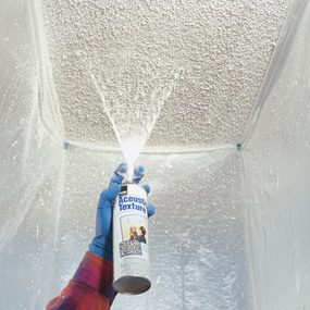 Spray texture makes ceiling repairs easier