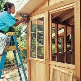 Barn sash windows add character
