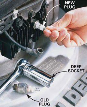 Photo 2: Install a new spark plug
