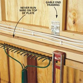 how to wire a garage unfinished the family handyman rh familyhandyman com wiring a garage door sensor wiring a garage shop
