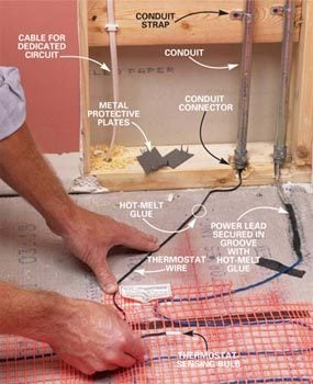 How To Install In Floor Heat The Family Handyman - Does radiant floor heating need dedicated circuit