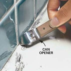 Photo 2: Scrape out the old caulk