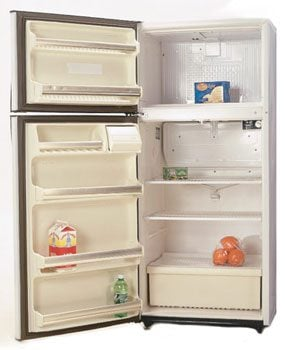 A cycle defrost picture of refrigerator