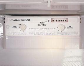 Adjust the temperature controls