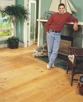Pine floors look even better as they age.