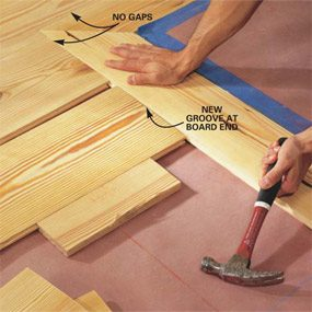How to install pine floors the family handyman how to install pine floors solutioingenieria