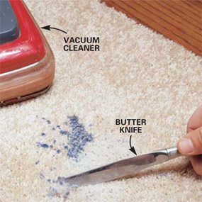How To Remove Wax From A Carpet The Family Handyman