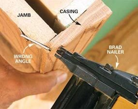 How To Use A Trim Nailer Gun The Family Handyman