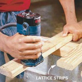 Photo 17: Make the lattice strips