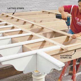 Photo 20: Attach the lattice to finish the construction