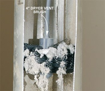 Dryer vent brush