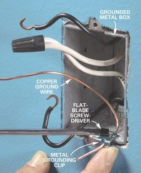 Photo 4: Install a grounding clip