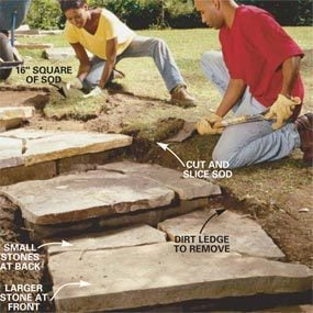 Photo 9: Blend the yard into the steps