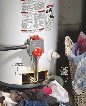 Potential gas water heater fire