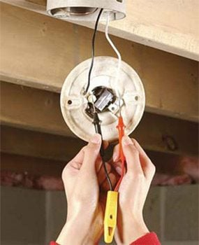 how to replace a pull chain light fixture the family handyman