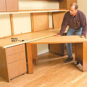 Photo 16:  Attach the swing-out desk