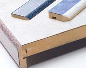 Solid surface edging