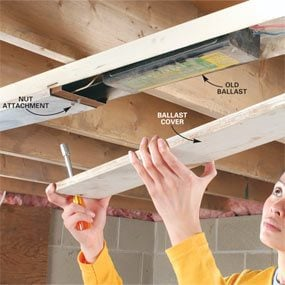 How to Replace Fluorescent Lights Ballast | The Family Handyman