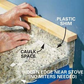 How to Install Granite Tile Countertops (Kitchen Tile)