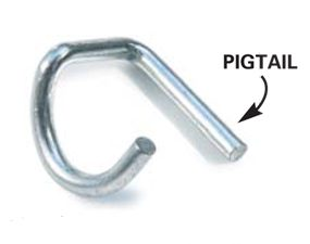 Pigtails are one type of securing pin