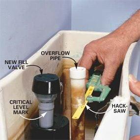 Photo 4: Install the new fill valve