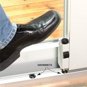Install a second patio door lock.