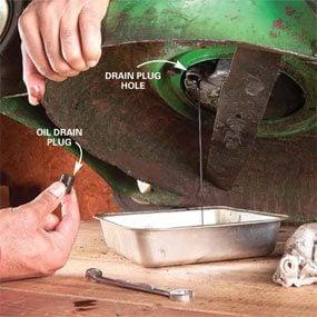 Photo 5: Alternate oil draining method