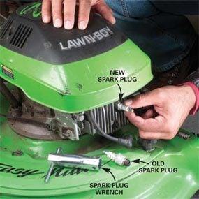 Photo 7: Install the new spark plug