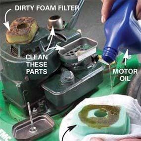 Photo 11: Prepare new foam air filter