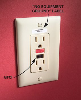 A GFCI can be used to replace an electrical outlet, but only if there's no easy way to ground the outlet.