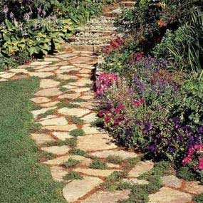 Photo 1: Stone pathway