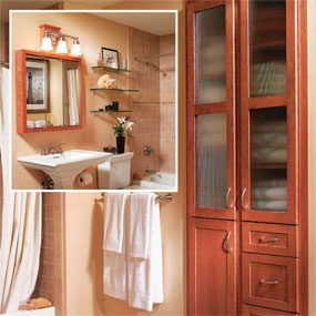 The same bathroom, after the remodel.