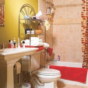 A typical bathroom, before being remodeled.