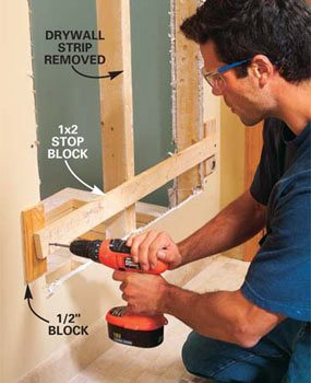 Photo 13: Install stop blocks.