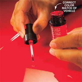 how to fix paint chips on car