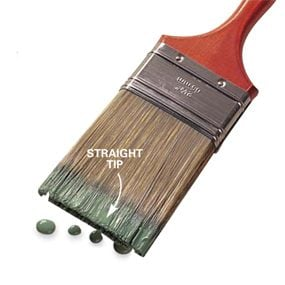 Straight tip brush
