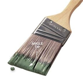 Angle tip brush
